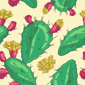 Conception de fond de cactus