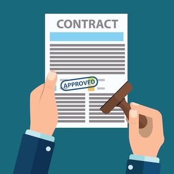 Approuve vecteurs et photos gratuites for Contrat de conception construction