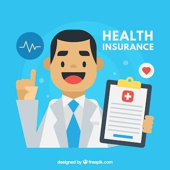 Conception de fond de santé