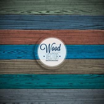 Conception de fond de texture en bois peint en couleur vectorielle. Illustration décorative en bois foncé et foncé.
