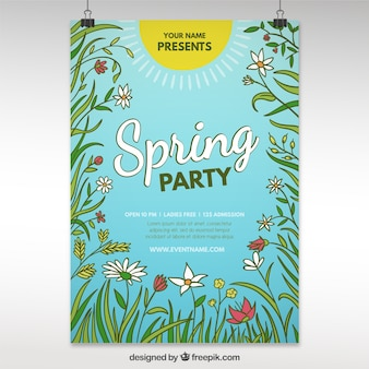 Conception de l'affiche du parti de printemps