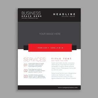 Conception de la brochure d'affaires rouge et noir