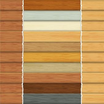 Conception de la collection de bois