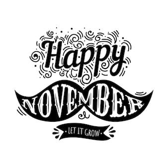 Conception de lettrage Movember