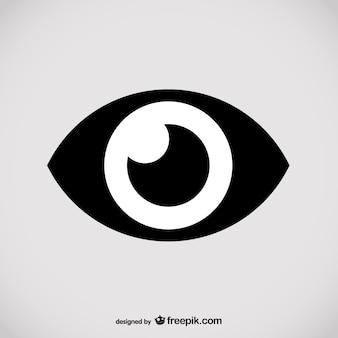 Conception de logo d'oeil de vecteur