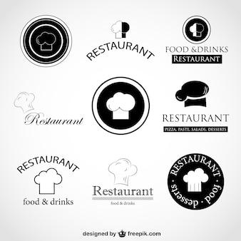 Conception de logos de vecteur chef chapeau