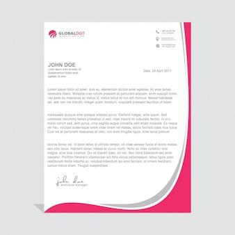 Conception de modèle de lettre professionnelle