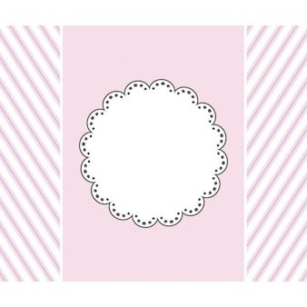 Conception de modèle rose pour carte de voeux