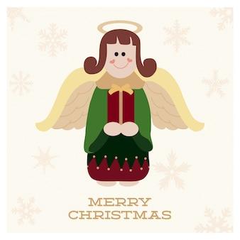Conception de Noël avec ange mignon
