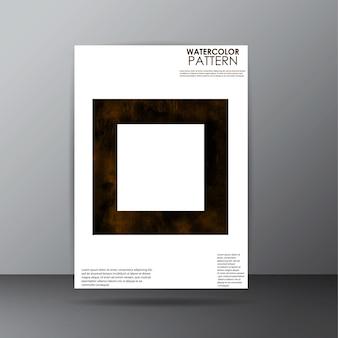 Conception de page de couverture de motif aquarelle