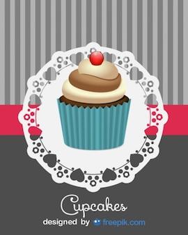 Conception de petit gâteau rétro mignon