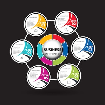 Conception des cercles infographiques professionnels