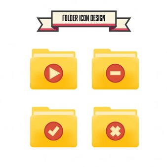 Conception dossier icône