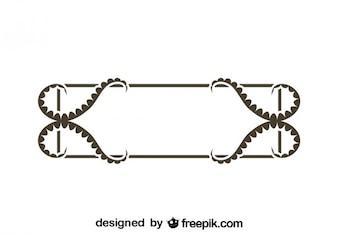 Conception du cadre décoratif rétro