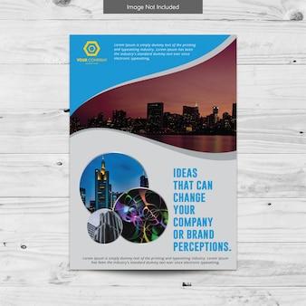 Conception élégante de brochure commerciale