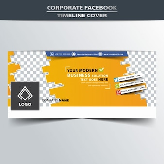conception facebook de couverture de chronologie