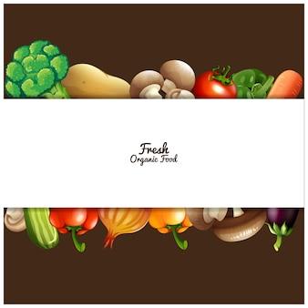 Conception légumes de fond