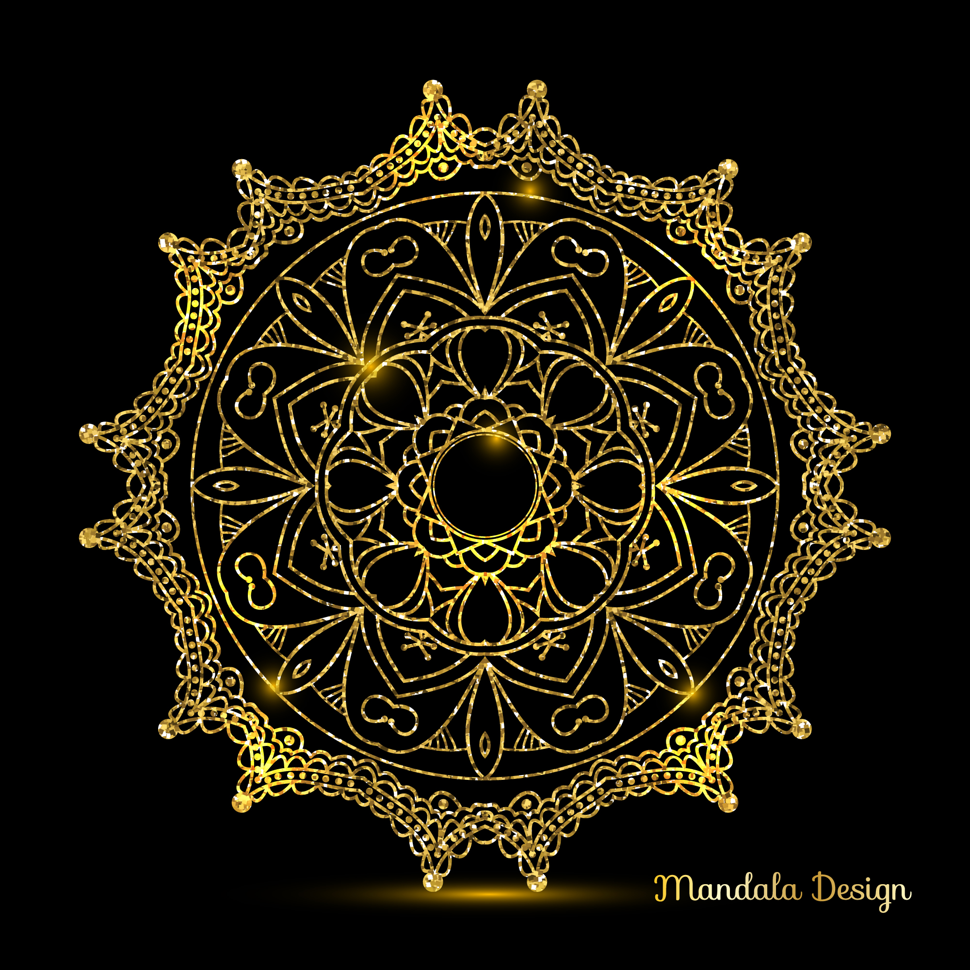 Conception Mandala d'or