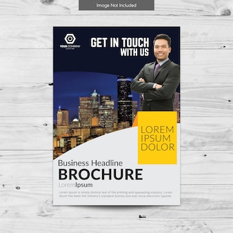 Conception multicolore de brochures commerciales