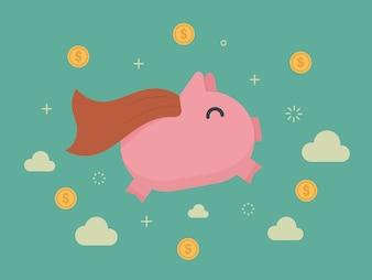 Conception Piggybank de fond