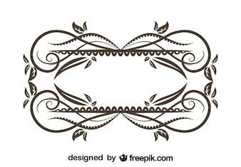 Conception vintage de cadre décoratif floral