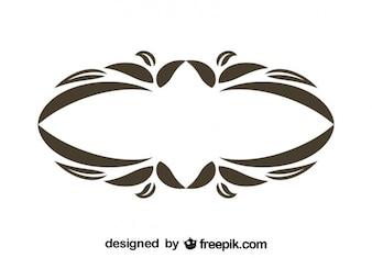Conception vintage ovale floral cadre décoratif