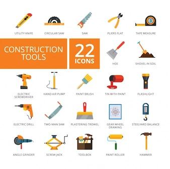 Construction d'outils icônes collection