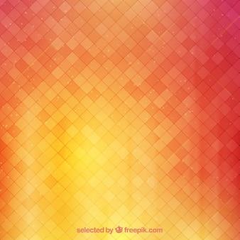 Contexte avec des carrés dans des tons chauds