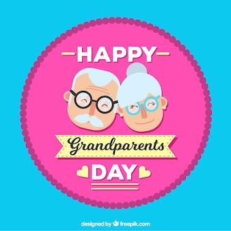 Contexte avec le badge heureux du jour des grands-parents