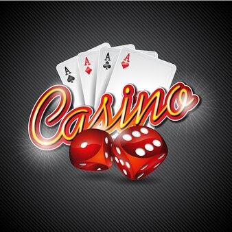 Contexte avec le design du casino