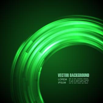 Contexte avec lumière verte