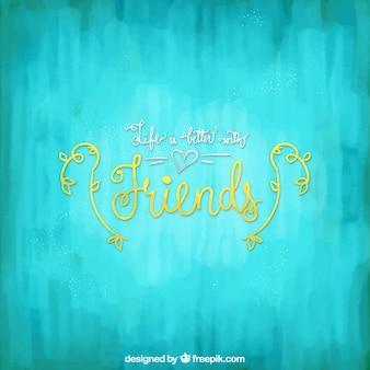 Contexte bleu de l'amitié