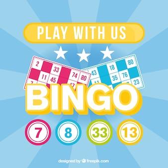 """Contexte de bingo avec le texte """"jouez avec nous"""""""