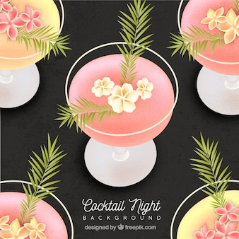 Contexte de cocktail de fleurs