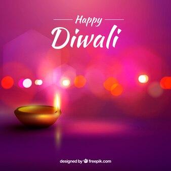 Contexte de Diwali Defocused