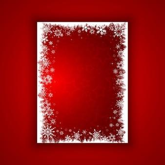 Contexte de flocons de neige et étoiles