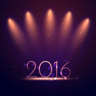 Contexte de l'année 2016 avec des lumières roses