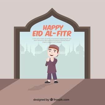 Contexte de l'heureux eid al-fitr