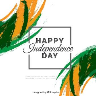 Contexte de l'indépendance de l'Inde avec des coups de pinceau