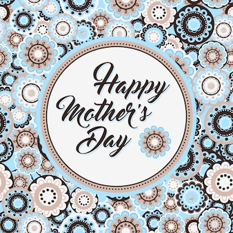 Contexte de la fête des mères avec motif de fleurs