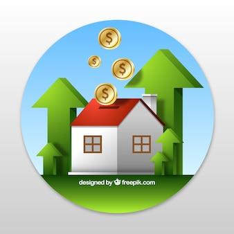 Contexte de la maison et de l'argent