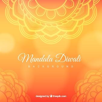 Contexte de mandala diwali ornemental
