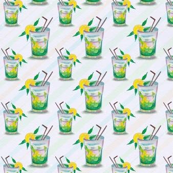 Contexte de motif de jus de citron