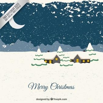 Contexte de Noël Snowy