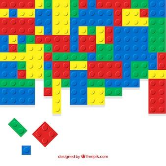 Contexte de pièces en plastique colorées