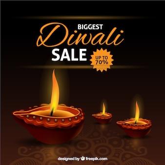 Contexte de réduction de Diwali