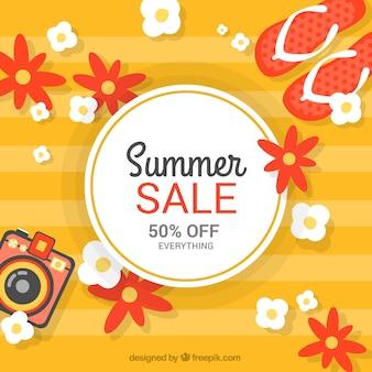 Contexte de vente d'été orange