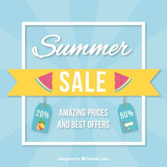 Contexte de vente d'été