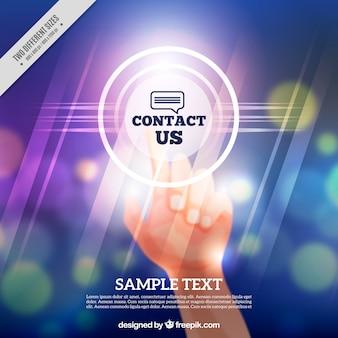 Contexte défocalisé contact bokeh