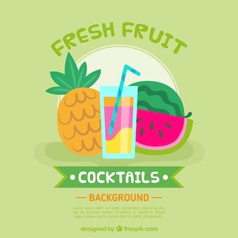 Contexte des boissons aux fruits